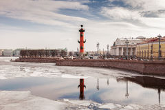The Spit of Vasilyevsky Island in Saint Petersburg in spring Royalty Free Stock Images