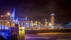 Spit of Vasilyevsky Island in St. Petersburg Royalty Free Stock Images
