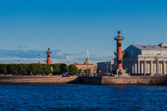 The Spit of Vasilyevsky Island view. Royalty Free Stock Images