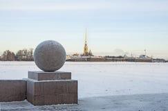 The spit of Vasilyevsky island. Royalty Free Stock Photo