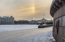 The spit of Vasilyevsky island. Royalty Free Stock Photography