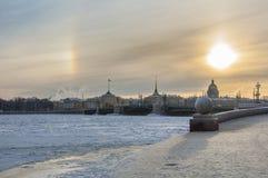 The spit of Vasilyevsky island. Royalty Free Stock Images