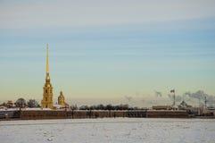 The spit of Vasilyevsky island. Stock Image