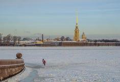 The spit of Vasilyevsky island. Royalty Free Stock Image