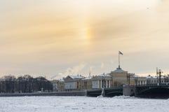 The spit of Vasilyevsky island. Stock Photo