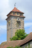 Spital本营在Rothenburg ob der陶伯的门塔在德国 免版税库存照片