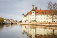 Spital Heilig Geist i Landshut Arkivbilder