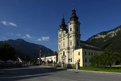 Spital am Pyhrn Cathedral, Oberosterreich, Austria stock images