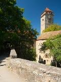 Spitalbastei en el der Tauber del ob de Rothenburg Fotos de archivo