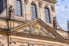 Spitalkirche op het marktvierkant in de oude stad van Bayreuth Royalty-vrije Stock Foto