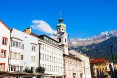Spitalskirche catholic church, Innsbruck. Spitalskirche is the Roman catholic church located in Altstadt Old Town of Innsbruck, Austria Royalty Free Stock Photo