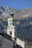 Spitalskirche zum Heiligen Geist Innsbruck Royalty Free Stock Photos