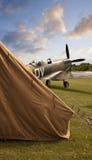Spitfire на заходе солнца Стоковая Фотография