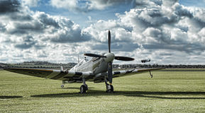 Spitfire. Supermarine Spitfire at Duxford Airfield royalty free stock photography