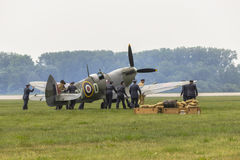 Spitfire in airport stock photos