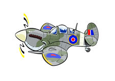 Spitfire cartoon plane Stock Photography