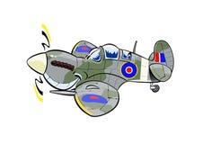 Spitfire cartoon plane stock illustration