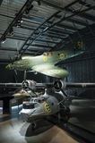 Spitfire and catalina Swedish air force museum Royalty Free Stock Image