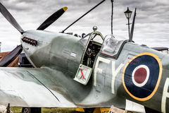 Spitfire close up. A close up of a spitfire WW II fighter aircraft Stock Photo