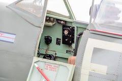 Spitfire cockpit Stock Photography