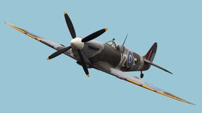 spitfire d'isolement Photo stock