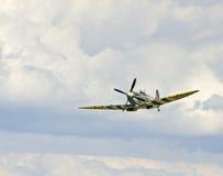Spitfire durante il volo Fotografia Stock