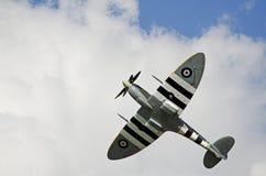 Spitfire durante il volo Immagini Stock