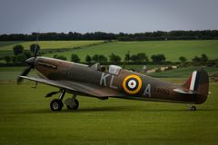 Spitfire at Duxford royalty free stock photos