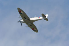 Spitfire en vol Photos stock