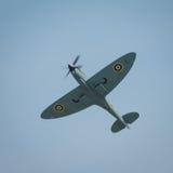Spitfire en vol Photos stock