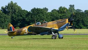Spitfire fighter aircraft taking off Royalty Free Stock Images