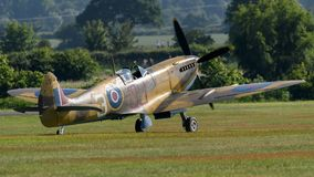 Spitfire fighter aircraft taking off Stock Photography
