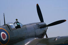 Spitfire fighter plane. A recent visit to an aircraft show in London UK showing a spitfire Stock Image