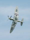 Spitfire in flight. Vinatge World War Two, British Supermarine Spitfire mark 9 in flight Stock Photo