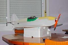 Spitfire Foam Aircraft Construction di modello fotografie stock libere da diritti