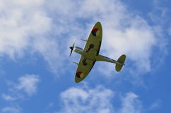 Spitfire with landing gear down. Royalty Free Stock Image