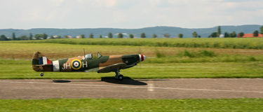 Spitfire landing Royalty Free Stock Photo