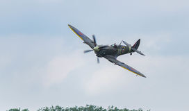 Spitfire. Low pass during air show Stock Images