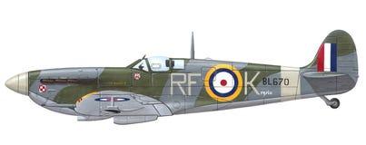 Spitfire Mk di Supermarine. VB Fotografia Stock Libera da Diritti
