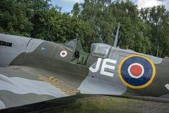Spitfire Mk IX, сериал никакой EN398, JE-J стоковая фотография rf
