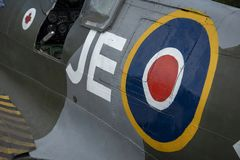 Spitfire Mk IX, pubblicazione periodica nessuna EN398, JE-J fotografia stock