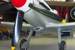 Spitfire Mk 24 VN485 Supermarine, на имперском музее Duxford войны Стоковые Изображения