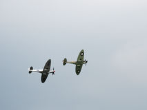 Spitfire Mk X1X PS915 The Last One Produced Flying over Dunsfold Royalty Free Stock Photo