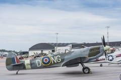 Spitfire MK XV που σταθμεύουν Στοκ εικόνα με δικαίωμα ελεύθερης χρήσης