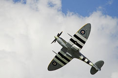 Spitfire no vôo Imagens de Stock