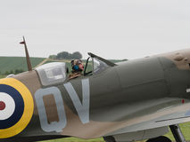 Spitfire Pilot Stock Photography