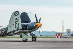 Spitfire Plane. A photo of Spitfire on a mild english afternoon. Made possible by yeovilton airshow.nThe photo was taken using a canon 60D and edited in Stock Image
