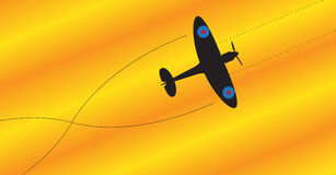 Spitfire Silhouette Fighting Stock Photography