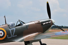 Spitfire standing on runway Stock Photography