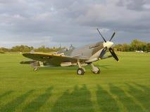 Spitfire Supermarine с солнцем на ем стоковая фотография